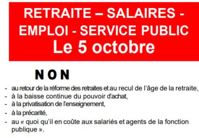 Tract pour la manifestation du 05 octobre 2021